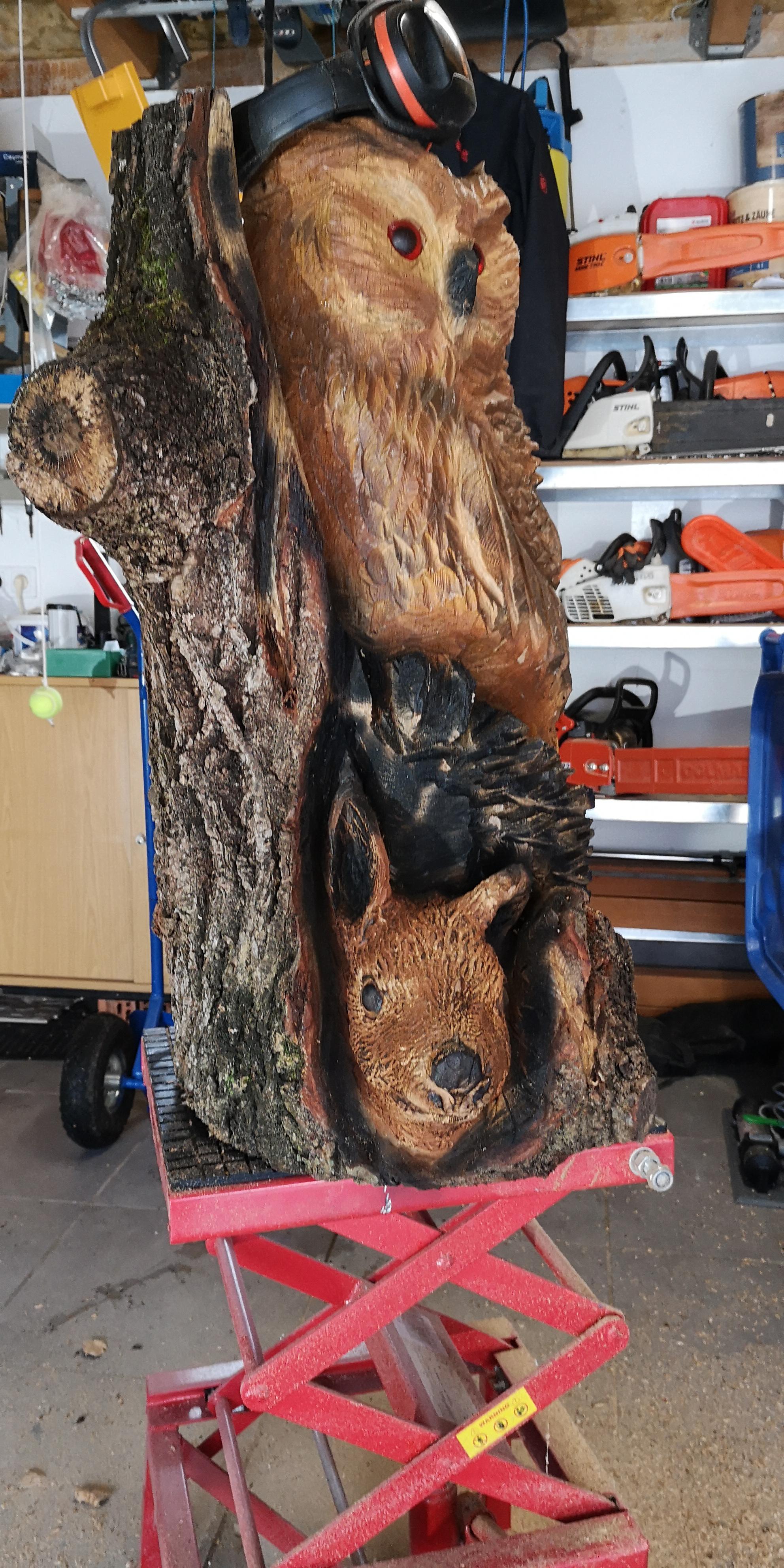 Eule und Eichhörnchen zum 50iger